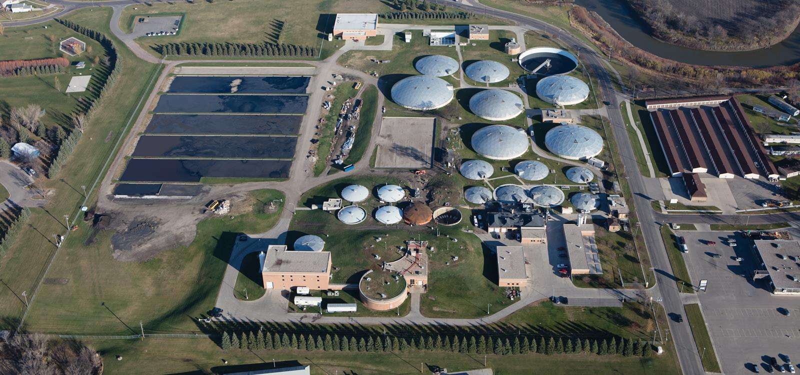 Fargo Wastewater Treatment Facility Aerial