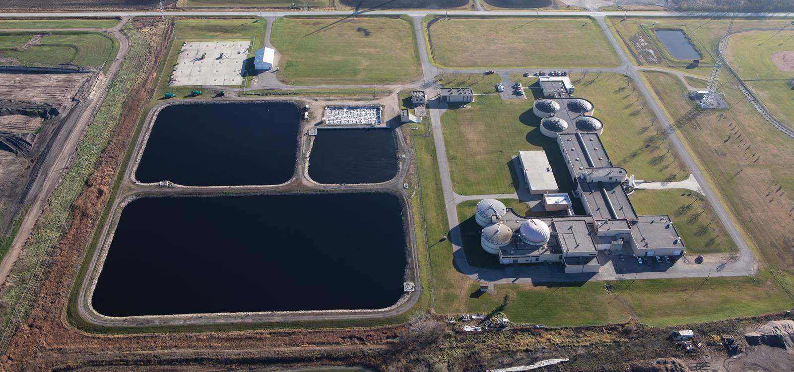 Moorhead's Wastewater Treatment Facility Aerial