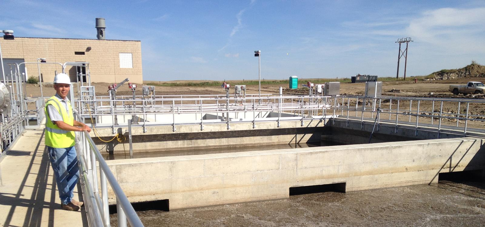 Apex employee oversees sewage treatment at the Dickinson Water Reclamation Facility