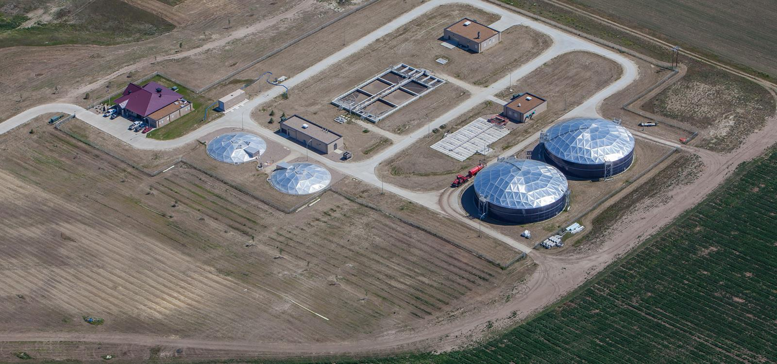 Dickinson Water Reclamation Facility Aerial