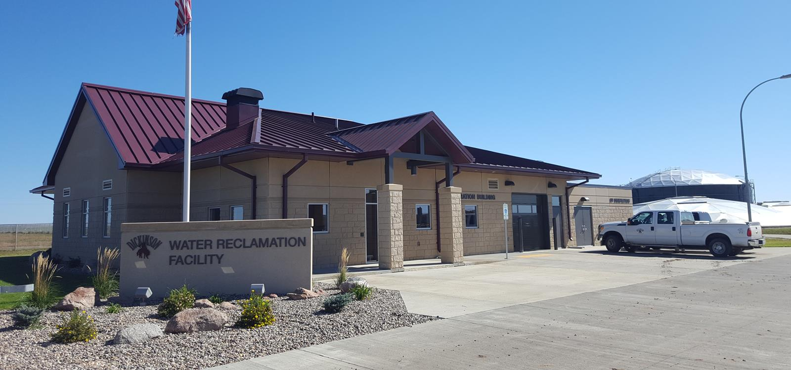 Dickinson Water Reclamation Facility Building Exterior